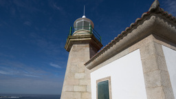 4k lighthouse galicia coast sea ocean Footage