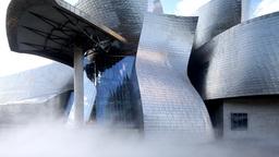 4k guggenheim museuem art gallery bilbao spain basque Footage