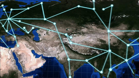 CONDENSED Global Network Animation stock footage