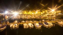 galicia muros port night harbour 4k marina Footage