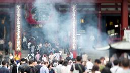 4k senso ji japan temple tokyo shrine religious Footage