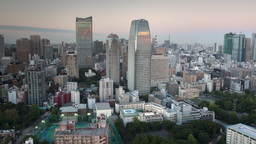 4k tokyo japan city future skyscrapers skyline destination timelapse Footage
