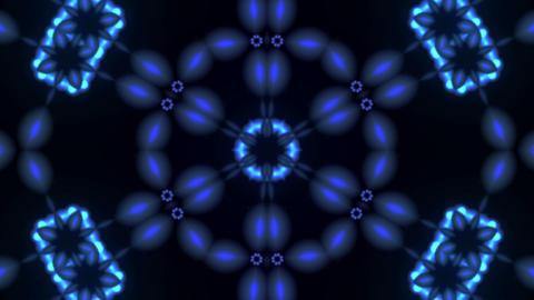 particle kaleido loop 3 Stock Video Footage
