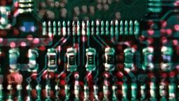 chip macro computer circuit boards Footage