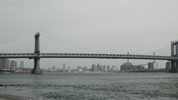 manhattan brooklyn bridge, new york Footage