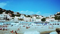 beach marseille coast france summer sea timelapse Footage