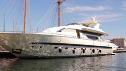 super boat sailing luxury Footage