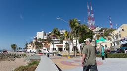 mazatlan malecon coast road sea promenade Footage