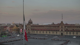 zocalo flag mexico city flag change Footage