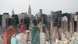 millenium skyscrapers manhattan skyline new york Footage