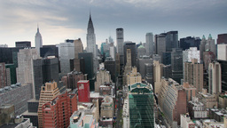 millenium sunrise manhattan skyline new york Footage