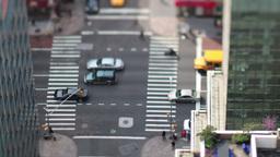 manhattan new york street traffic cars taxi Footage