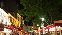 montmartre at night, paris france Footage
