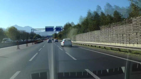 Driving on the highway from Vienna to Salzburg Footage
