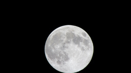 Timelapse Of A Full Moon stock footage