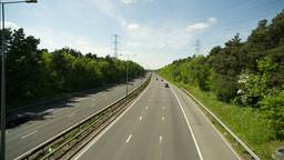 motorway traffic urban transport cars road Footage