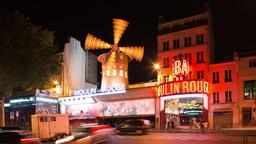 moulin rouge, paris france, nightlife Footage
