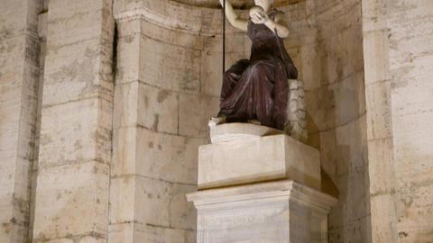 Sculpture Fontana Della Dea Roma. Night. Rome, Italy. 1280x720 stock footage