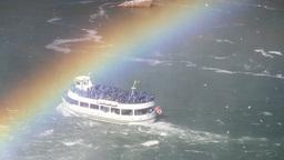 niagara falls rainbow usa canada Footage