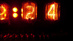 nixie clock numerical counter Footage