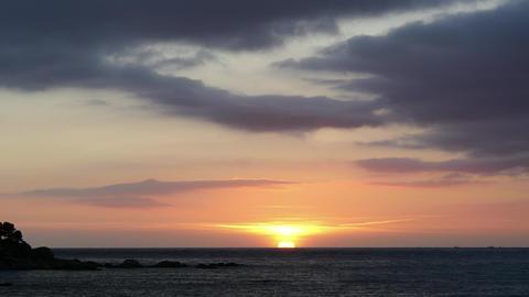 Sunrise Over The Mediterranean Sea stock footage