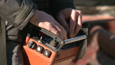 Remote Control Crane Operator Footage