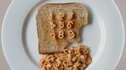 number toast spaghetti letters Footage
