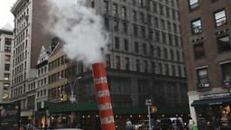 smoke chimney manhattan nyc subway, new york Footage