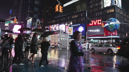 times square rainy night manhattan Footage