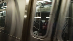 new york subway train Footage