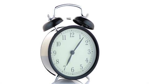 Old fashioned alarm clock Footage