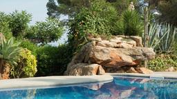 luxury private paradise pool holidays mediterranean Footage