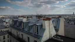 paris rooftops in montmatre Footage