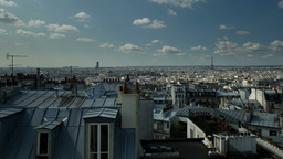 montmatre rooftops, paris france Footage