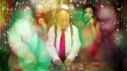 grandpa dj sexy gogo dancer music disco club Footage