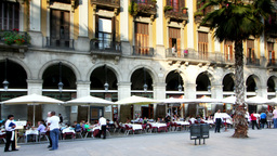 plaza real barcelona spain Footage
