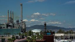 power station sea barcelona spain Footage