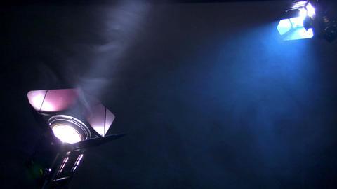 10636 interview background spotlights heavy smoke loop Stock Video Footage