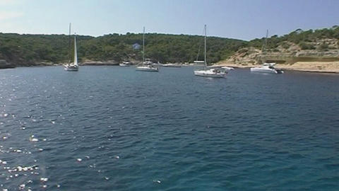 Boats in bay Stock Video Footage