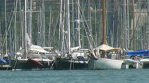 Yacht harbor Stock Video Footage