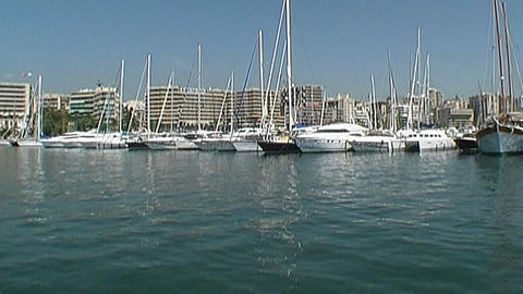 Yacht harbor Stock Video Footage
