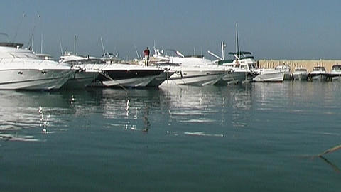 Motor yachts Stock Video Footage