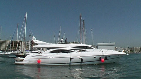 Motor yacht Stock Video Footage