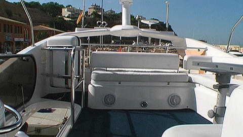 Motoryacht control Stock Video Footage