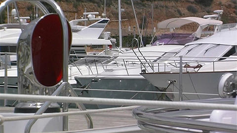Sailing yacht deck Stock Video Footage