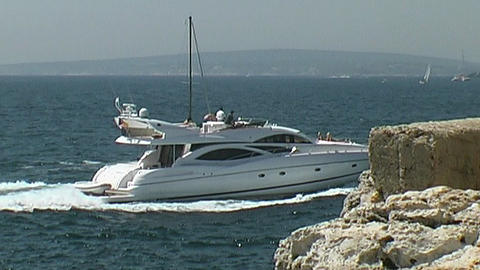 Motor yachts- sound Stock Video Footage