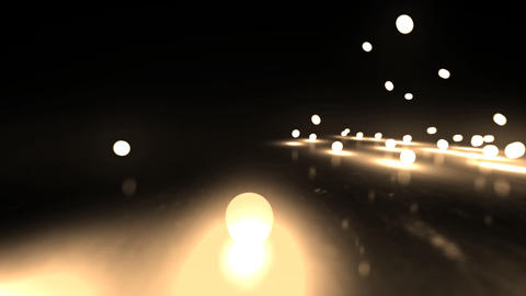 gold bouncing light balls Stock Video Footage