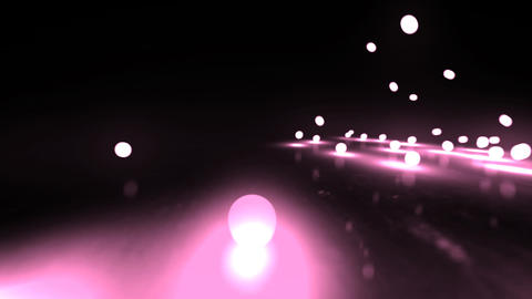 pink Bouncing light balls Animation