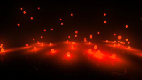 red Bouncing light balls Stock Video Footage