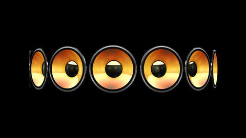 Disco Speaker AB2 HD Stock Video Footage